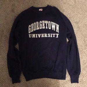 Sweaters - Georgetown University Vintage Sweatshirt